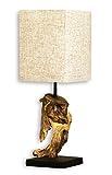 levandeo Lampe Tischlampe/Tischleuchte aus recyceltem Holz